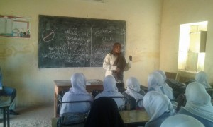 Aquatic Survival Programme being taught in a girls school in Khartoum, Sudan.