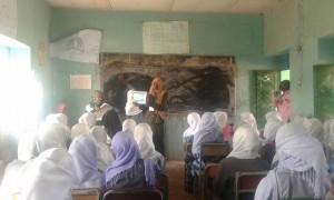 Aquatic Survival Training in a girls school in Khartoum, Sudan.