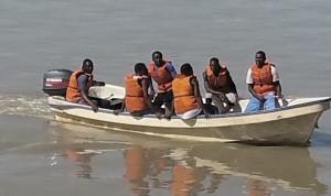 During the final boat handling assessment